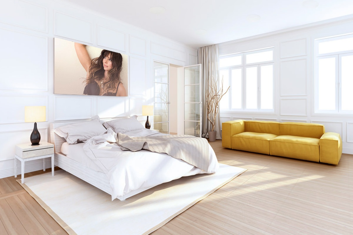 boudoir photography melbourne bedroom wall portrait