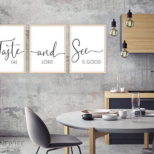 Taste and See Designer Wall Display