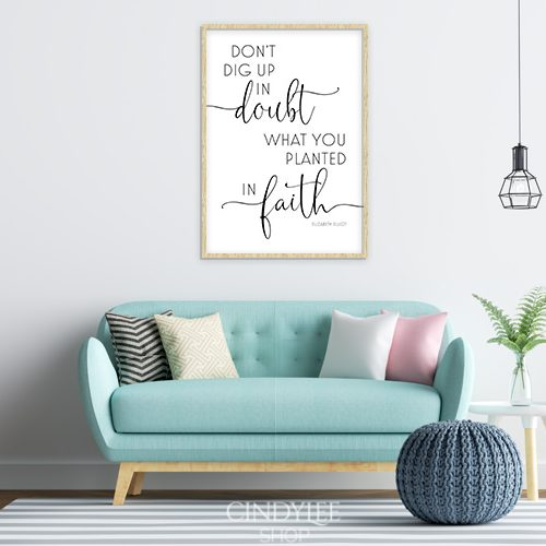 doubt faith designer wall art poster design